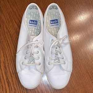 Keds white leather ready to wear sneakers